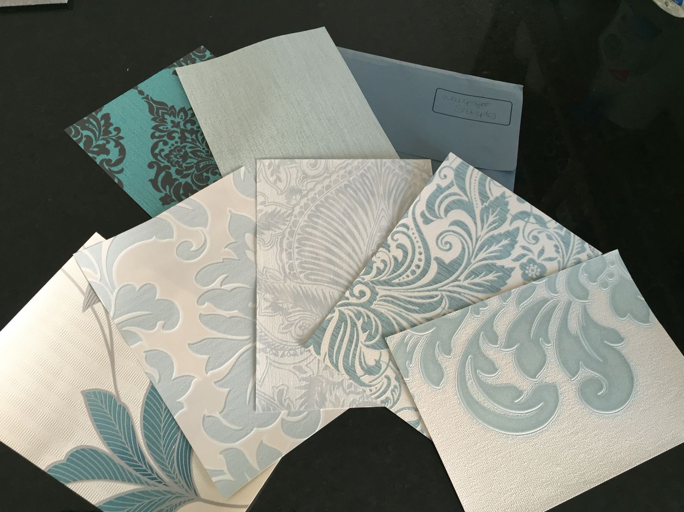 Duck Egg Blue Wallpaper Samples From Graham Brown