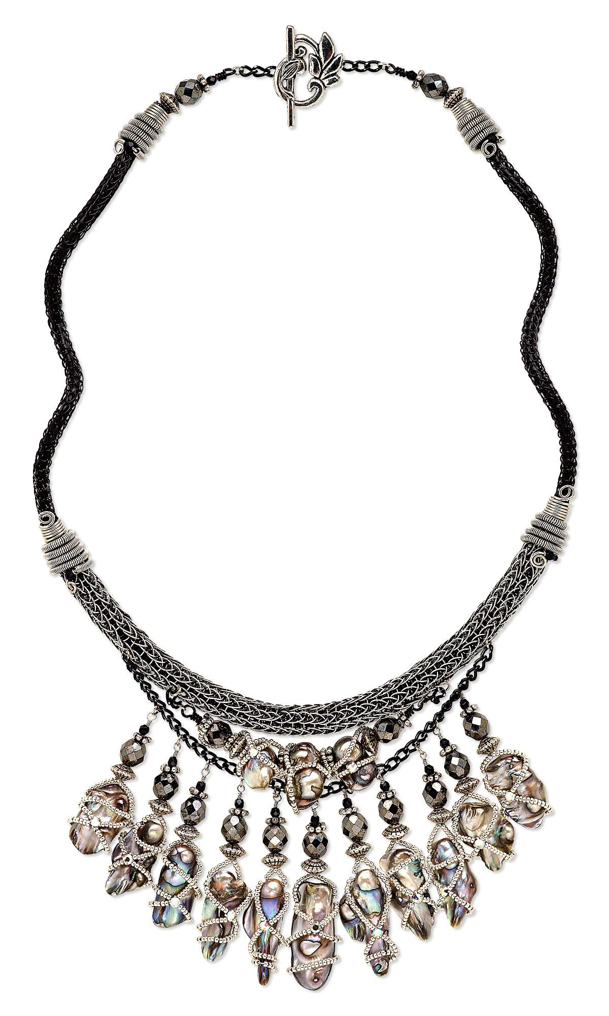 Jewelry Design - Triple-Strand Necklace with Cultured Freshwater ...