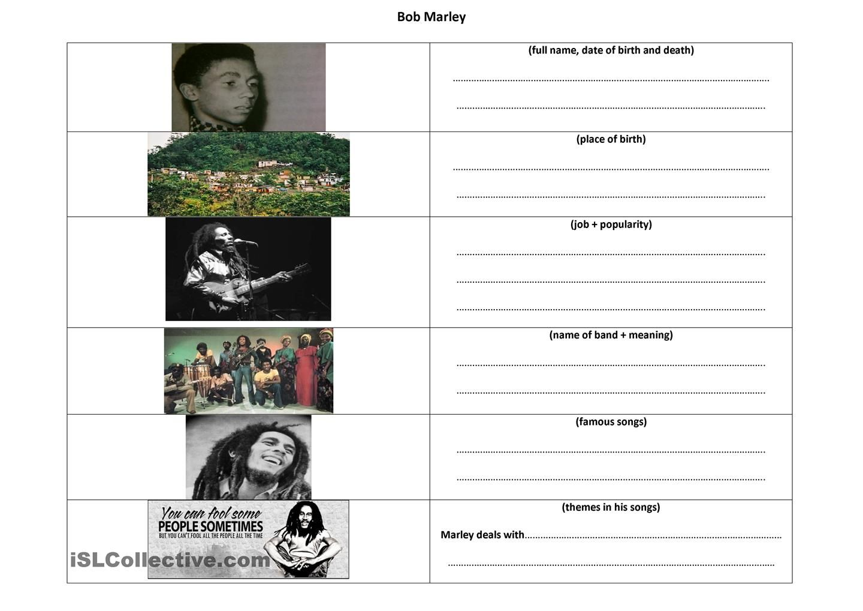 Gathering Information On Bob Marley