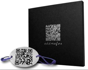 Le Bracelet Carte De Visite Virtuelle Addmefor Qrcode Flashcode