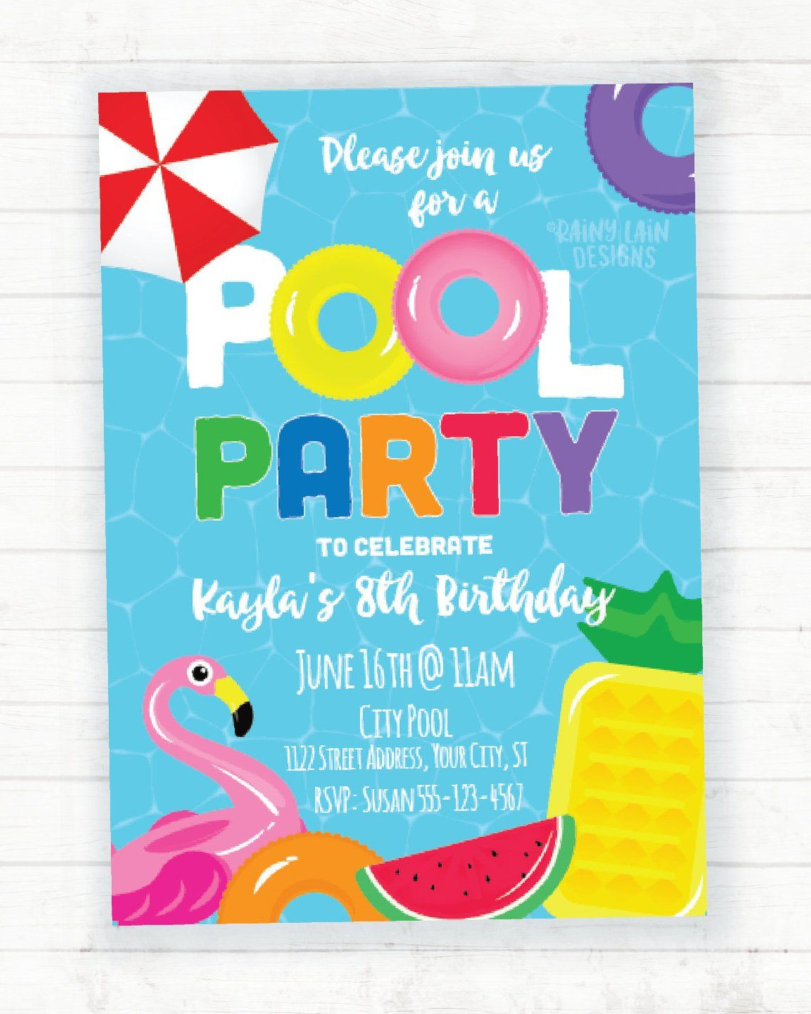 Pool Party Invitation Summer Birthday Party Invitation Pool Birthday Party Invit Summer Birthday Party Invitations Pool Birthday Party Pool Party Invitations