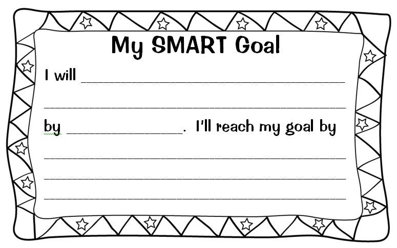 Smart Goal Template Setting (Almost) SMART Goals With My Students