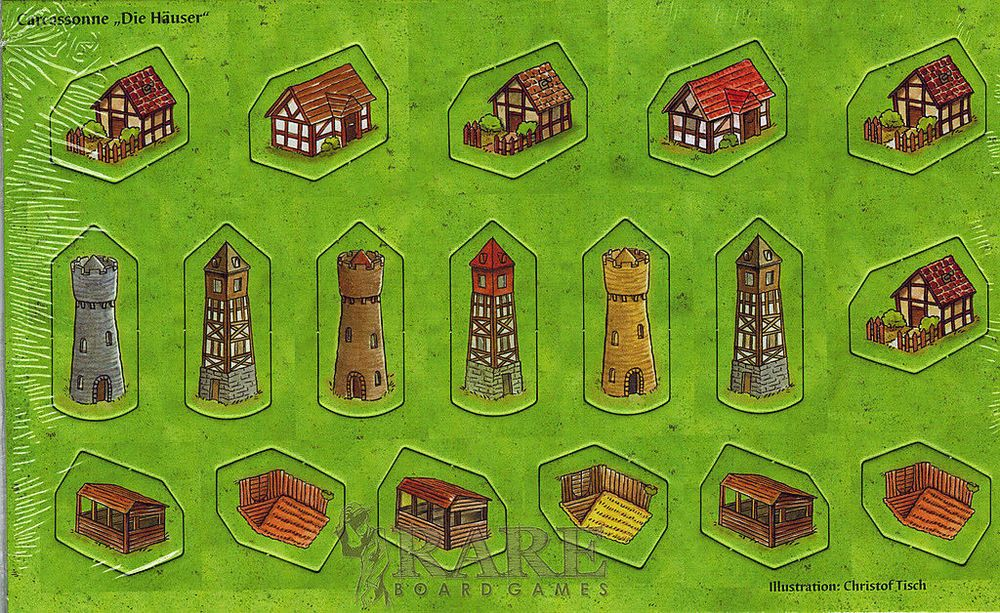 Carcassonne Little Buildings Expansion Board Game Promo