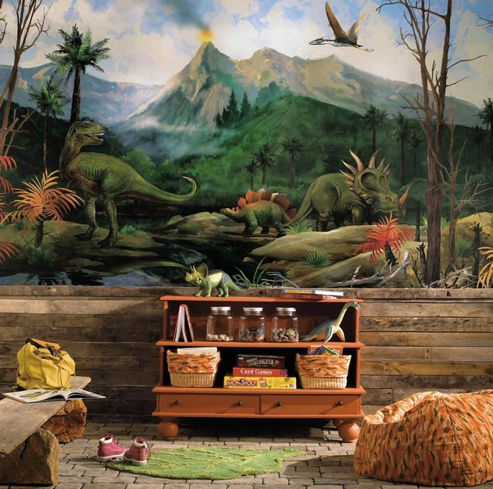 Dinosaur XL Wallpaper Mural 10.5'x 6' Wateractivated