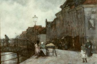 Arntzenius floris street scene holland art gallery of greater
