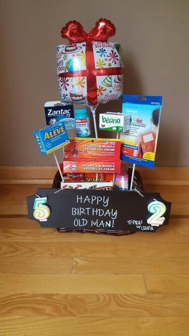 Over The Hill Birthday Basket Boss Gift 65th Party Ideas