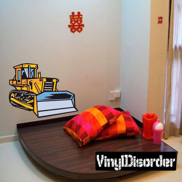 Construction Equipment Wall Decal - Vinyl Sticker - Car Sticker - Die Cut Sticker - DC 003