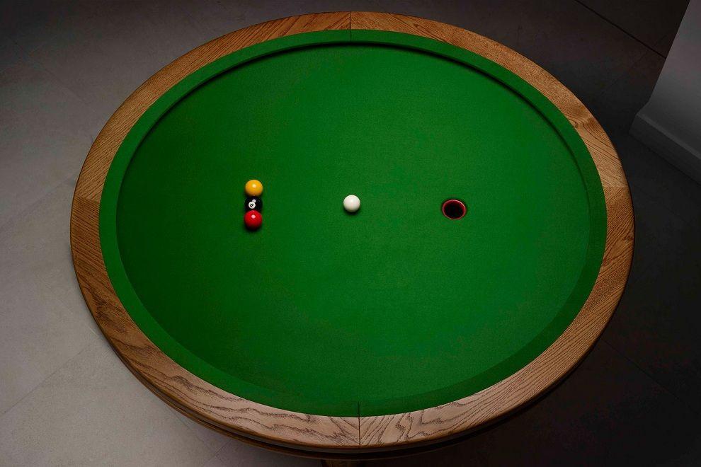 Loop Elliptical Pool Table Pool table, Cue sports, Table