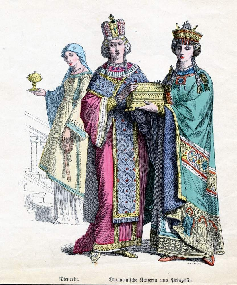 Ancient Roman Clothing For Men: Ancient Byzantine Nobility Costumes, Crowns