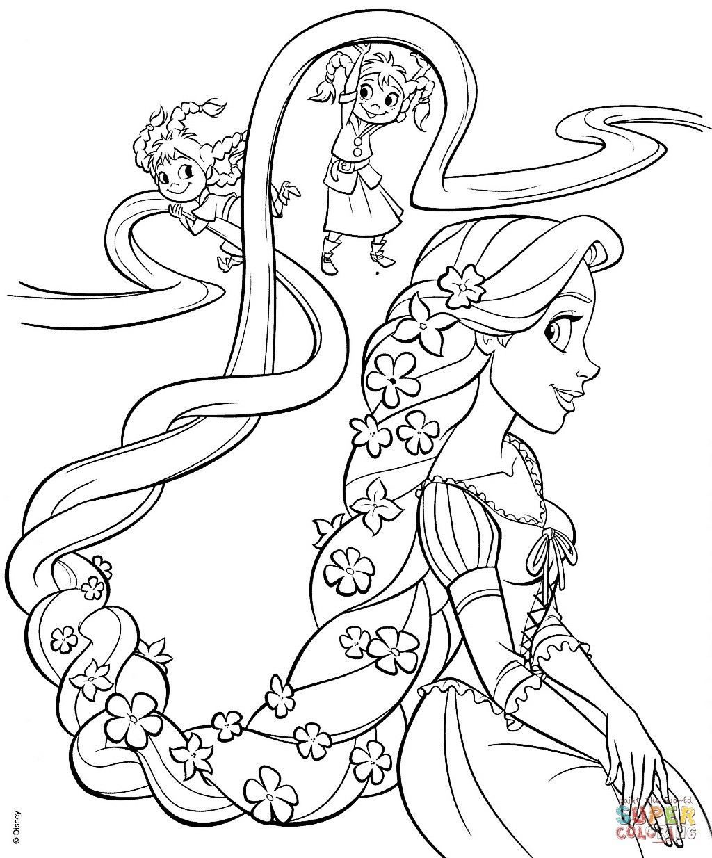 Disney Princess Coloring Pages To Print Rapunzel From The Thousands Of Photograp Tangled Coloring Pages Disney Princess Coloring Pages Disney Coloring Sheets