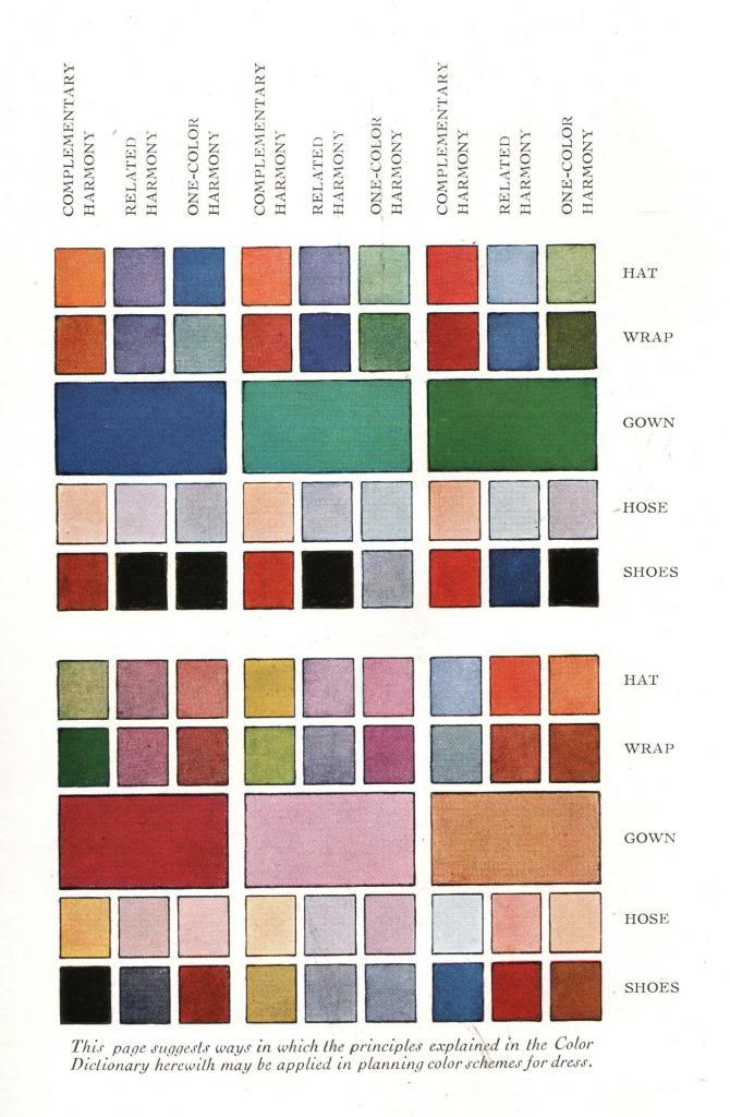 1920s Fashion Color Chart Color References For Artwork Pinterest