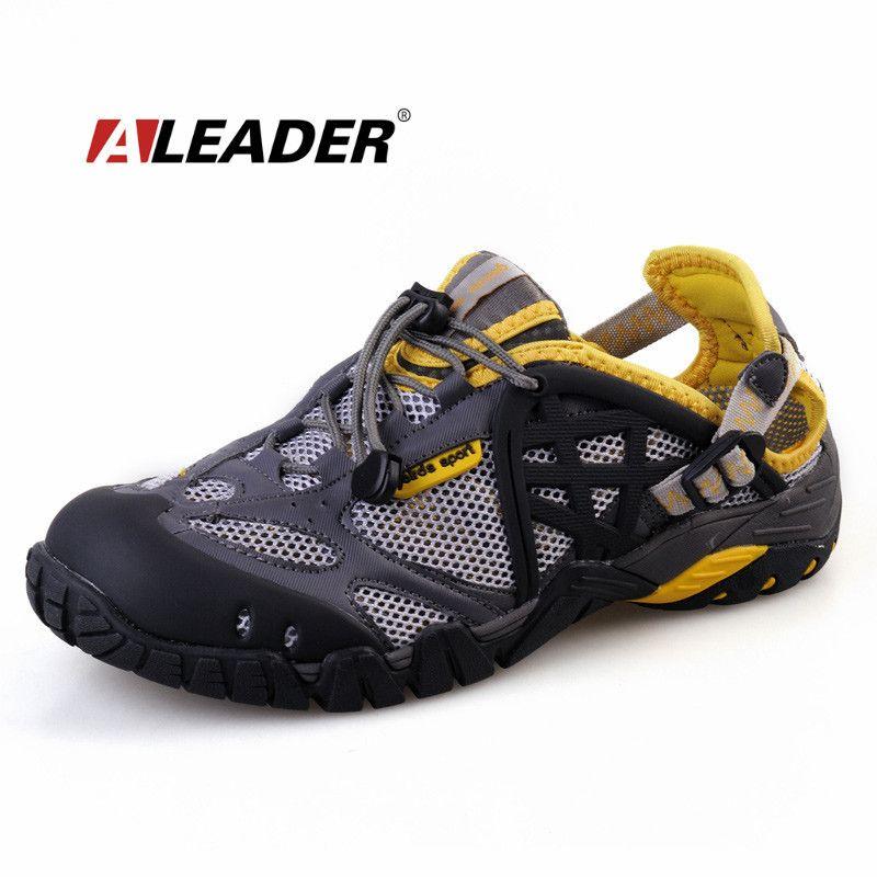 601f052f Zapatos transpirables hombre / para mujer Summer cuero de zapatos para  caminar 2015 a prueba de agua exteriores sandalias de playa zapatos de agua  para ...
