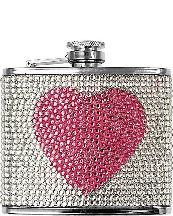 Hot Pink Visol Mothers Day I Love Mom Flask