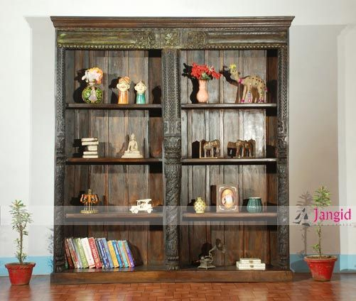 This Is Indian Vintage Style Antique Reproduction Big Library Bookshelf.  Jangidartandcraft... Is