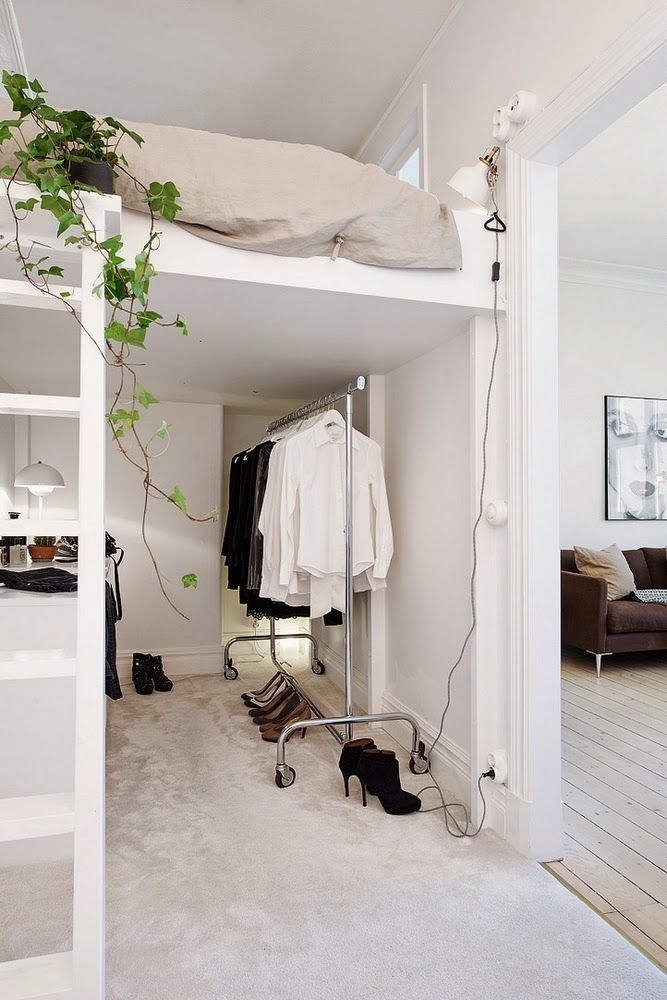 Small Space Bedroom Decorating Ideas une petite piÈce multifonction | high beds, bedrooms and interiors