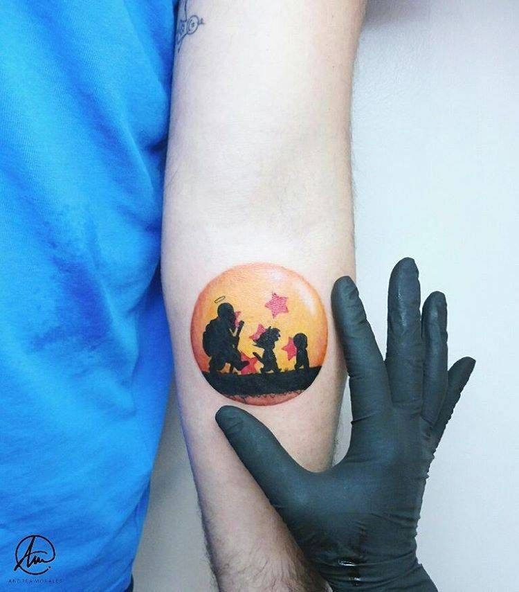 Tattoo Small Ball: Tatuaje Inspirado En Bola De Dragón Z.