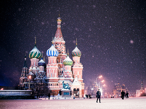 Russia in snow
