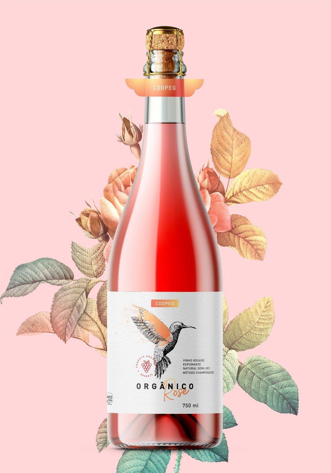 Coopeg Rose Organic Sparkling Wine In 2020 Wine Bottle Label Design Wine Bottle Packaging Wine Bottle Design