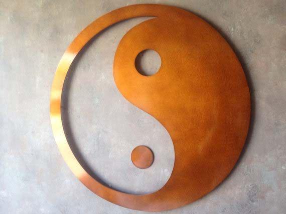 Giant Yin Yang Metal Wall Art Bronze Art By Inspiremetals 130 00