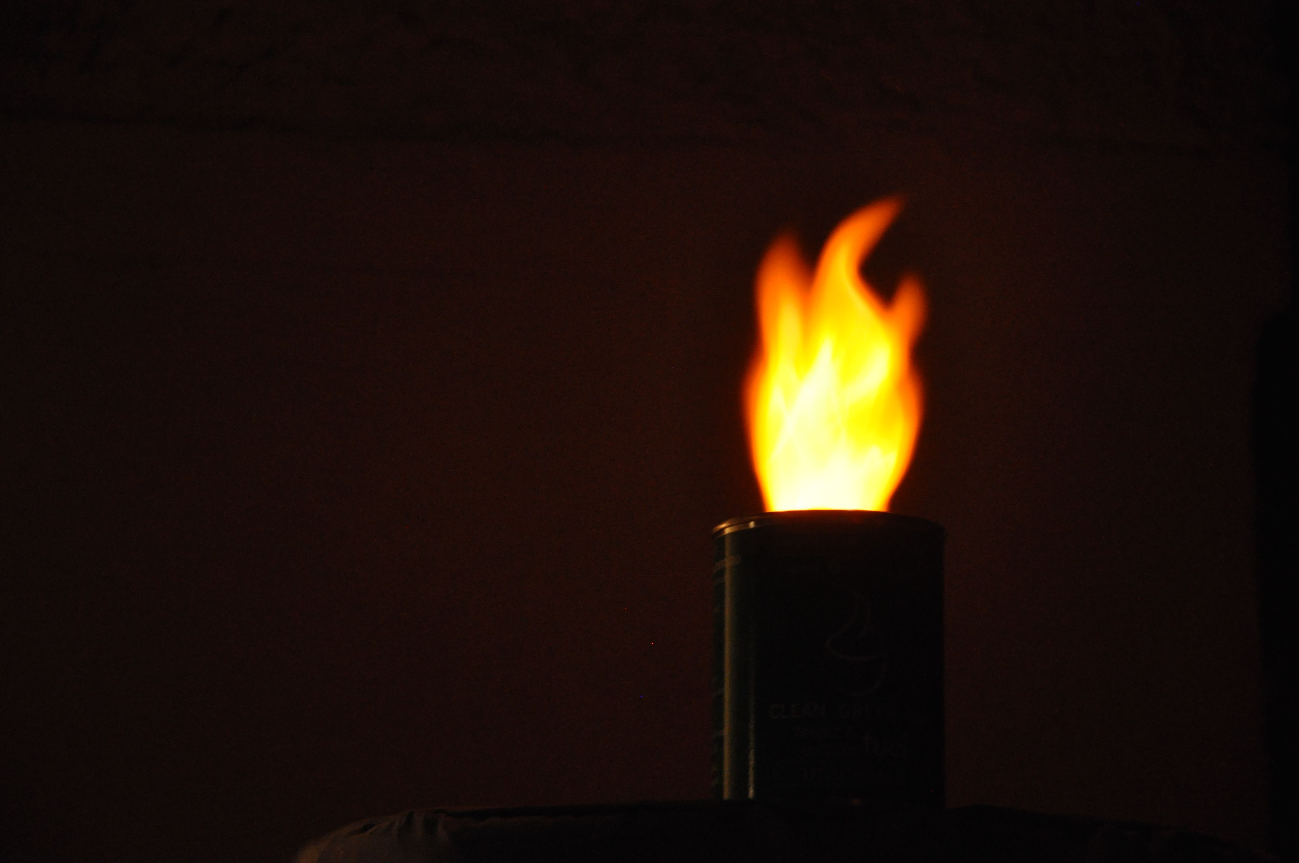Low speed photography makes the flame in Flame in a Can look great at night!