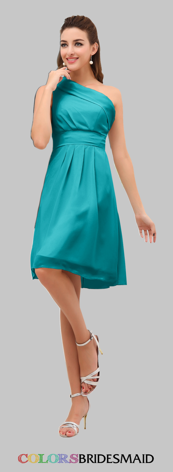 Colsbm amber chiffon bridesmaid dresses teal and shoulder