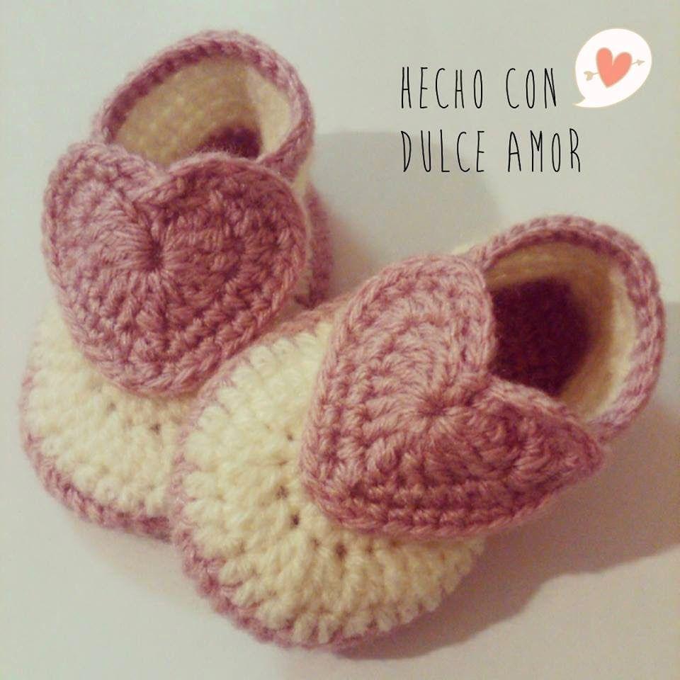 Zapatitos a Crochet | zapatitos bebe | Pinterest | Dulce amor ...