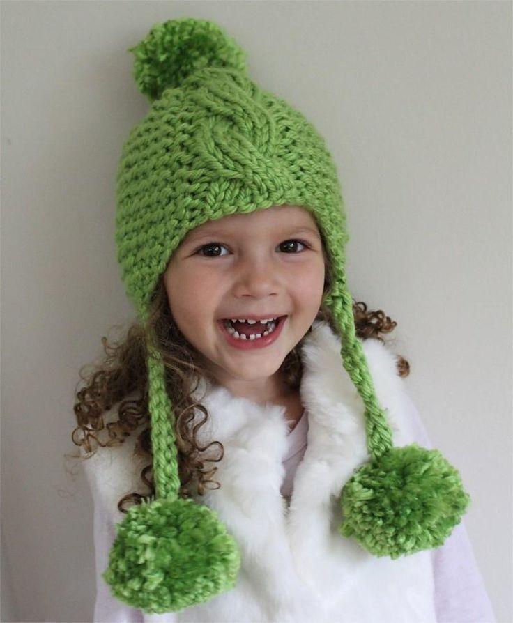 Knitting Patterns For Baby Lion Brand Pom Pom Hat Knitting