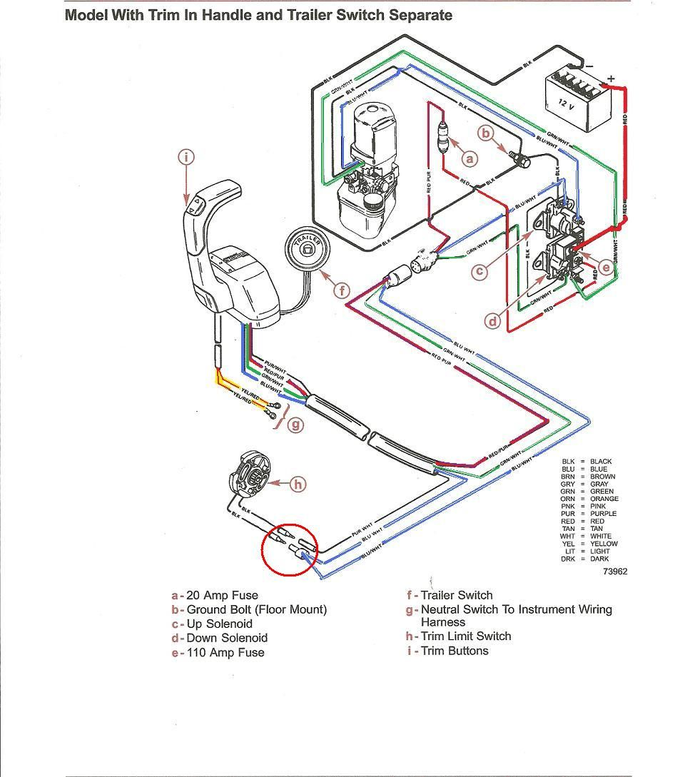 165 hp mercruiser engine ignition fuse diagram