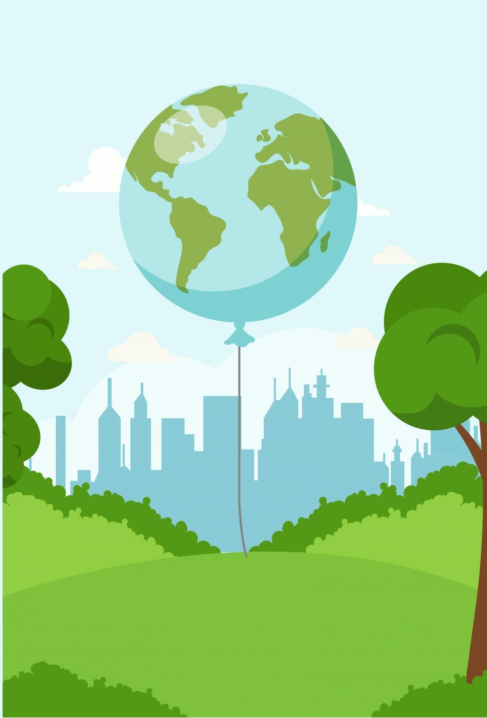 605 Green Nature World Environment Day Poster Background World Environment Day Posters Green Nature Earth Poster