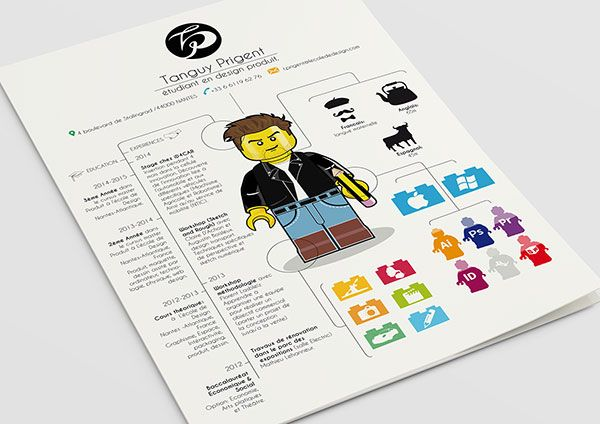 Resume Design Inspiration Creativelegoinspiredresumedesignforinspiration2  Diseño