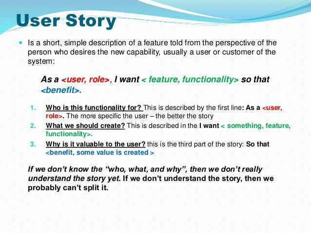 strategies to split user stories