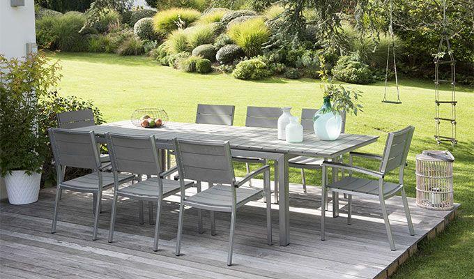 impressionnant salon de jardin bois gris | Décoration ...