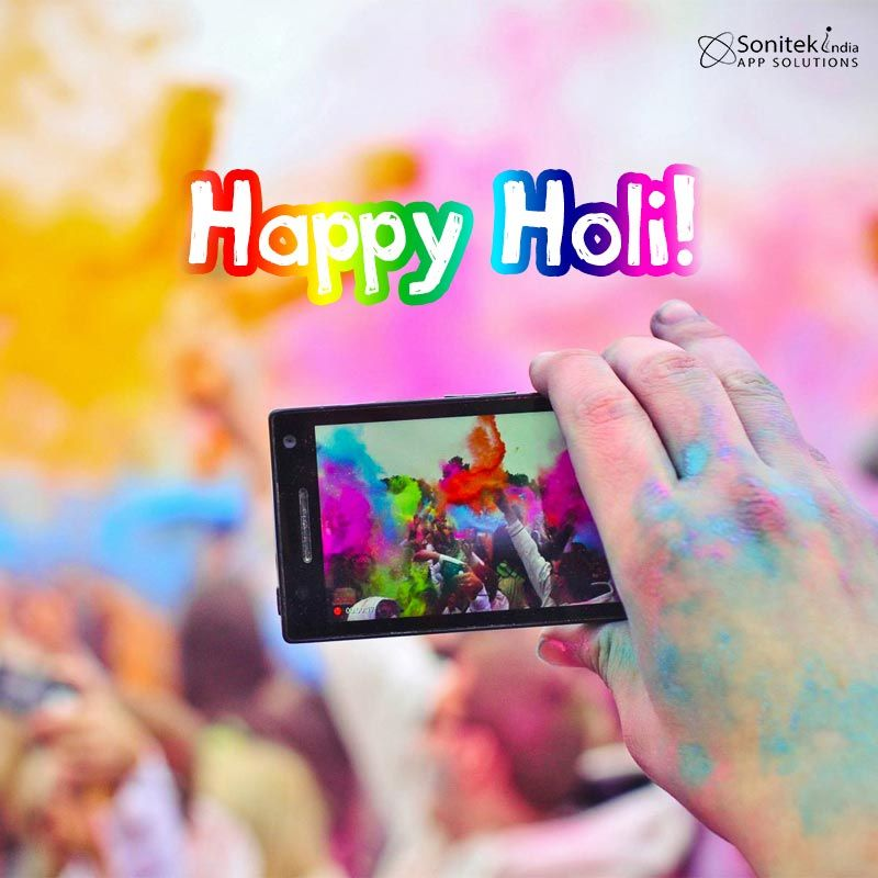 May this unique #Festival of #Colours bring joy and happiness to you. SonitekApps India​ wishes you a Happy #Holi http://goo.gl/o2bM8N