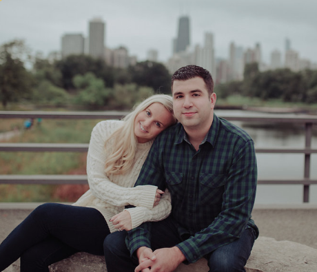 Fall engagement photos, Chicago