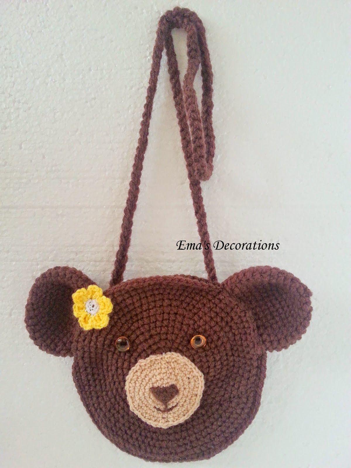 Emas Decorations Crochet Bear Bag Free Pattern Crochet Bags
