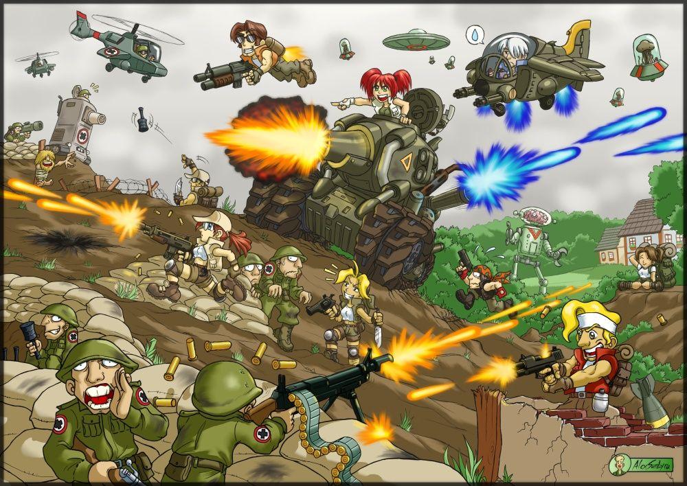 Metal Slug Mayhem By Alexsanlyra Deviantart Com Infinity Wallpaper Slugs Game Art