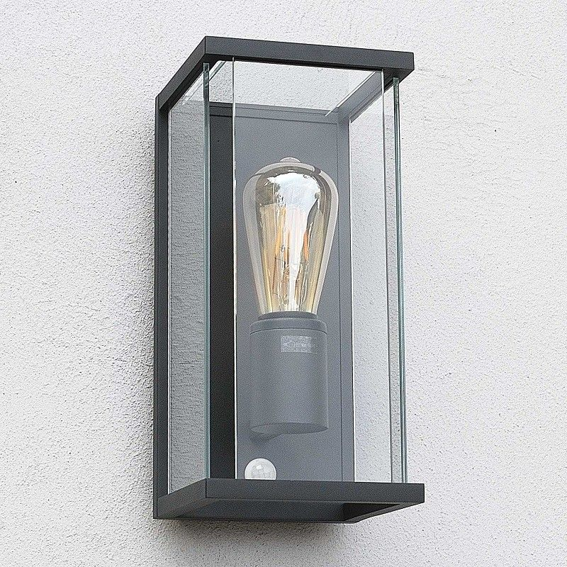 Elipta Kensington Modern Outdoor Wall Light E27 Graphite With