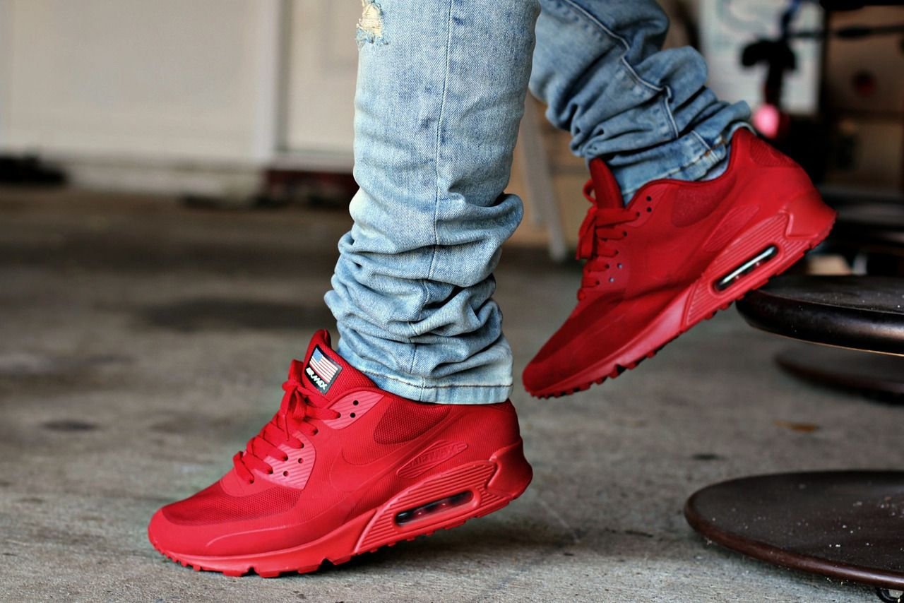 nike air max 90 hyperfuse red uknowm