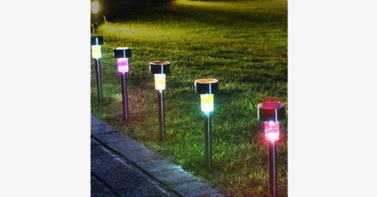 Solar Powered Multi Color LED Garden Lights