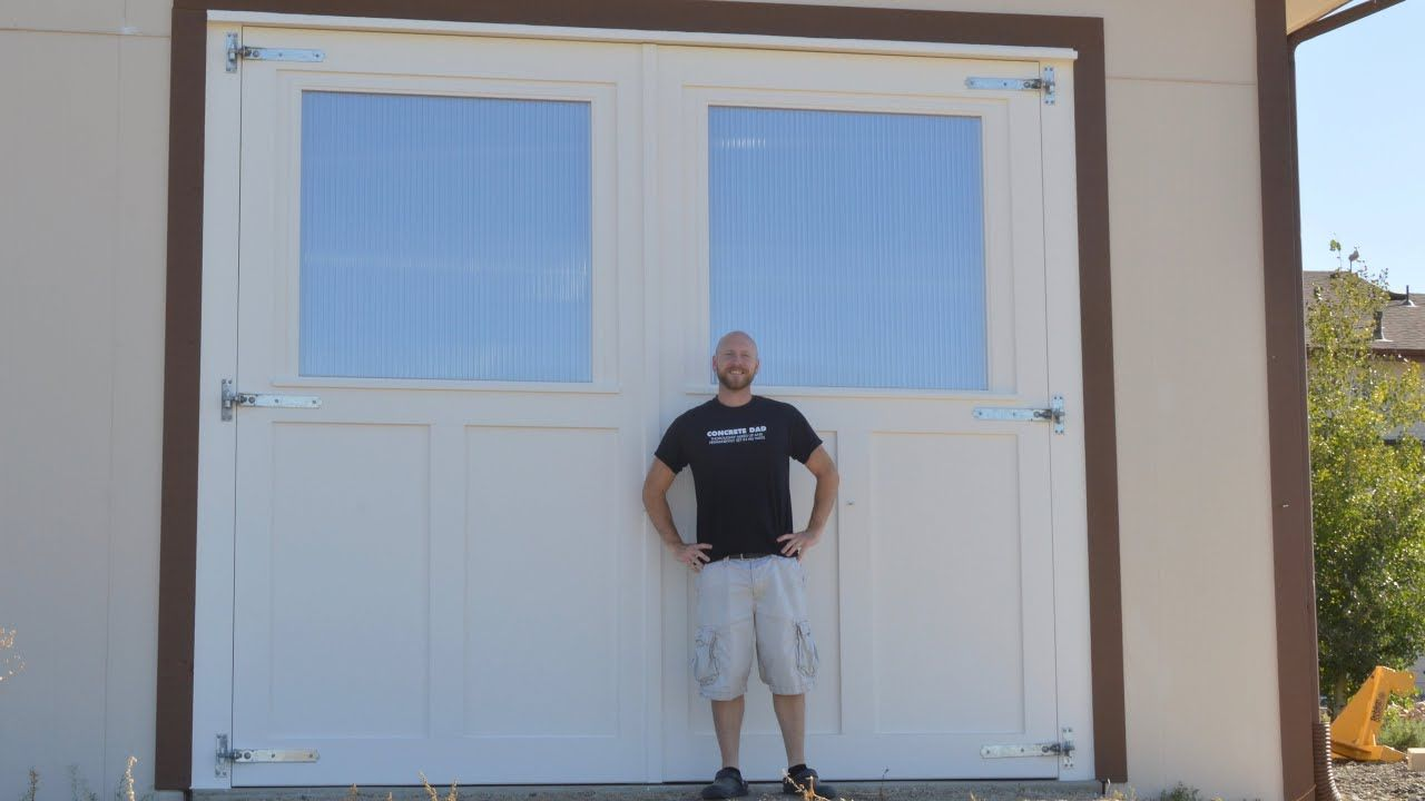 Mammoth Sized Carriage Doors With Shop Made Windows Carriage Doors Windows Doors