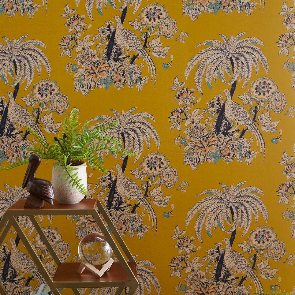 Tropical Toile Peel and Stick Wallpaper by Drew Barrymore ...