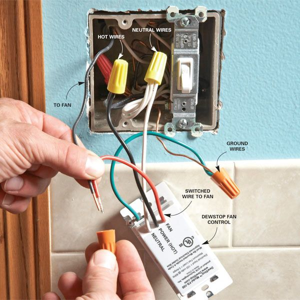 Control Bathroom Humidity More Efficiently With A New Type Of Humidistat  Switch That Turns An Exhaust