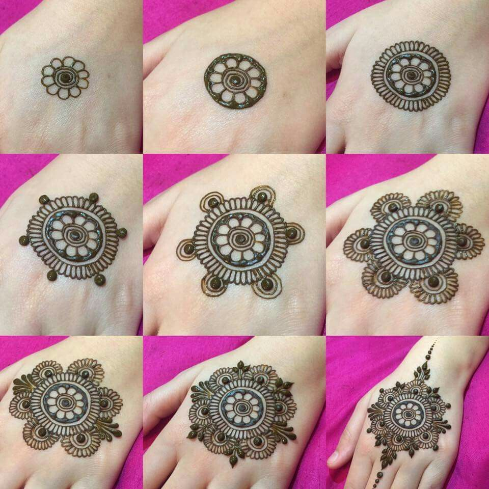 Step By Step Easy Henna Hand Designs