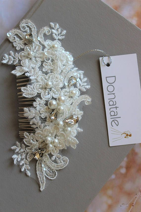 Bridal hair comb Wedding hair comb Bridal headpiece Bridal hair piece Lace Wedding hairpiece Bridal Hair piece Wedding Hair Accessory