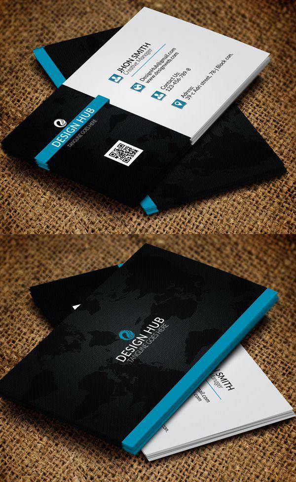 Modern Business Card Psd Templates Business Card Design Black Business Cards Layout Business Card Psd