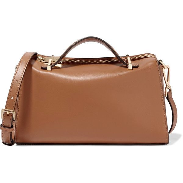 MICHAEL Michael Kors Mabel leather shoulder bag (1,835 CNY) ❤ liked on Polyvore featuring bags, handbags, shoulder bags, light brown, leather crossbody, leather cross body handbags, crossbody purses, brown leather handbags and brown leather purse