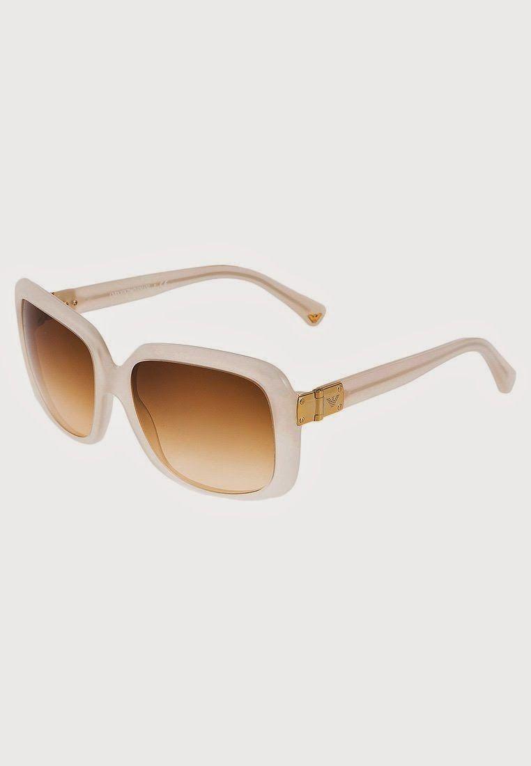 maxi gafas de sol de pasta blanca  b3a3249fa1d2