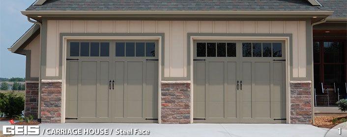 Steel Face Garage Door From Geis In Milwaukee Garage Doors For Sale Garage Doors Craftsman House