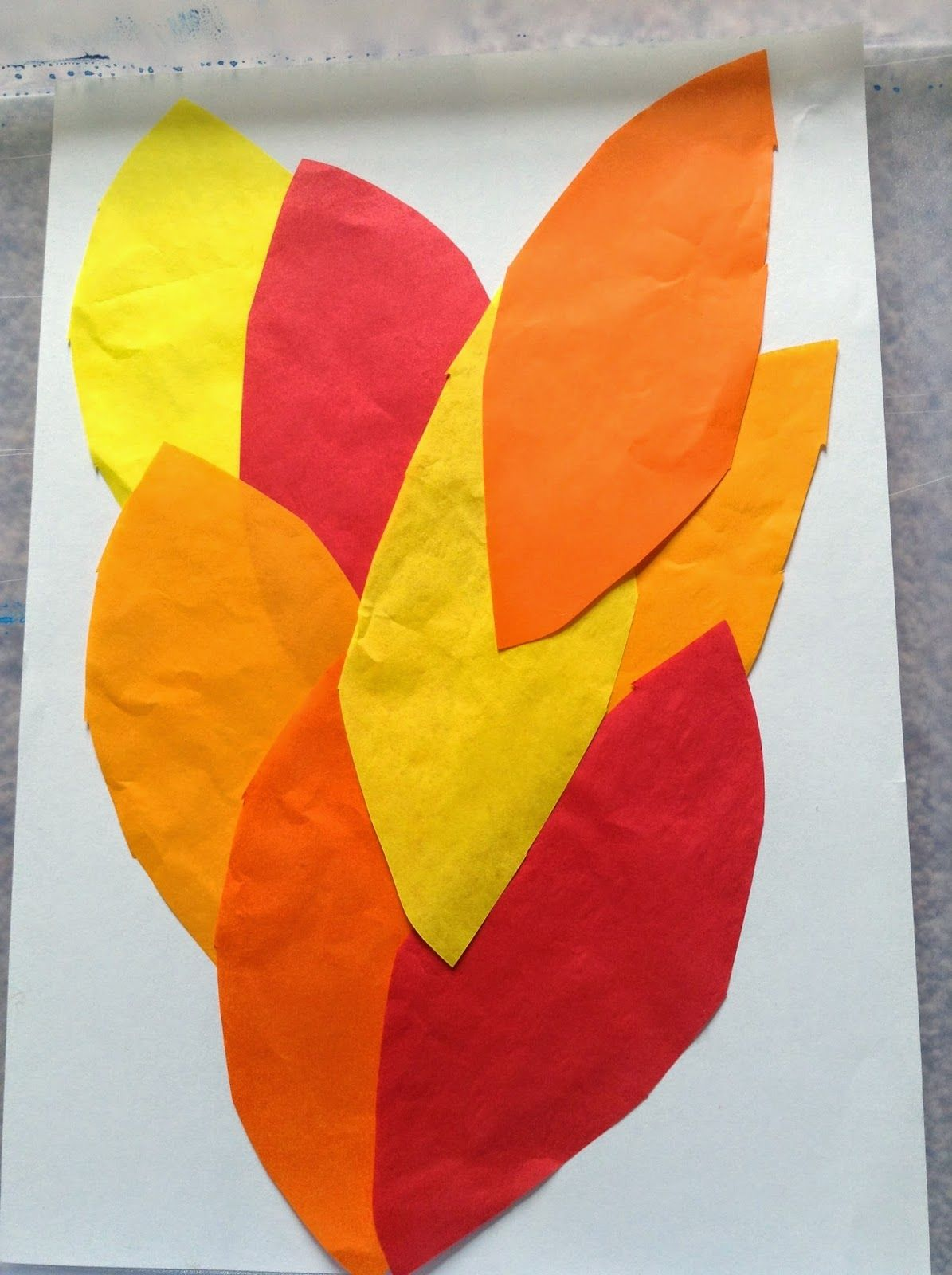 Moses And The Burning Bush Bleeding Tissue Paper Flames