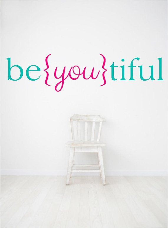 Wall Quotes Vinyl Decal, Beautiful Decal, Be you tiful, Beyoutiful, girls room decal, nursery decal on Etsy, $8.50